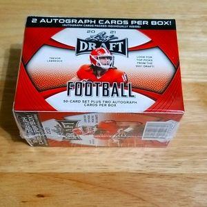 2021 Leaf Draft blaster box- complete RC & 2 auto